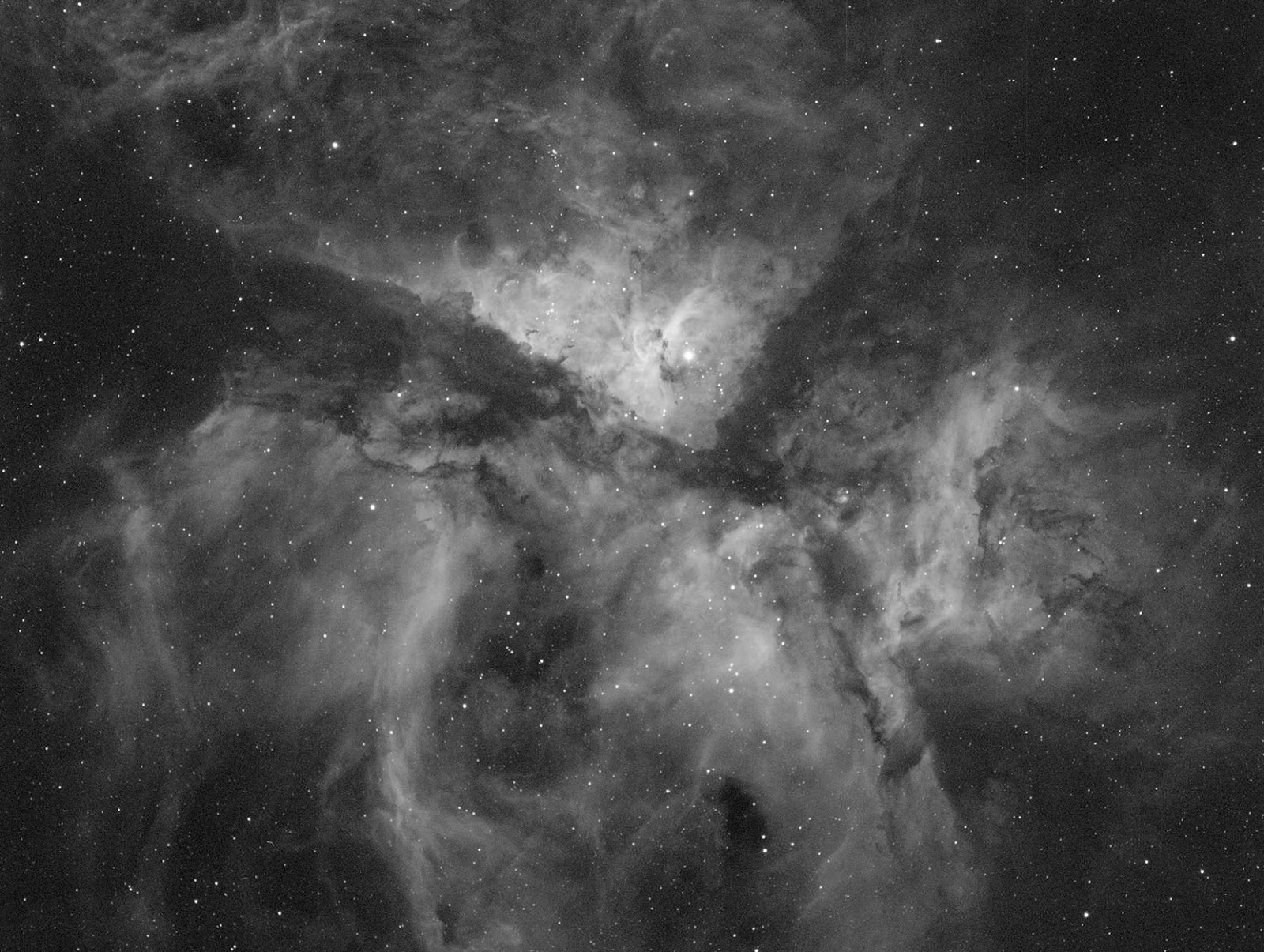 Eta Carinae nebula with HA Filter