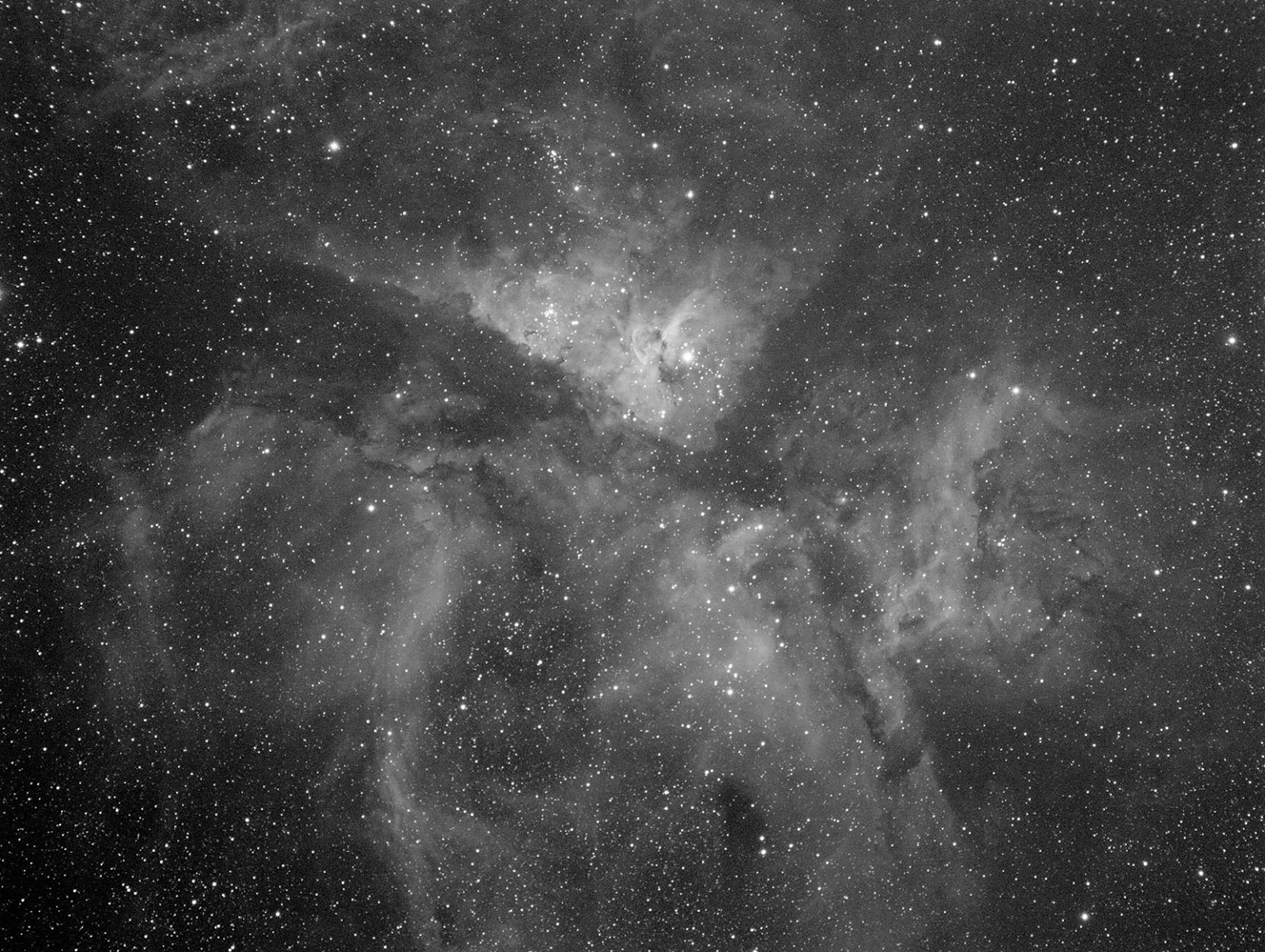 Eta Carinae nebula with Red Filter